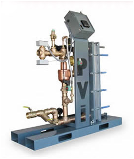 PVI Water Heater – EZ PLATE Skid-Mounted Water Heater